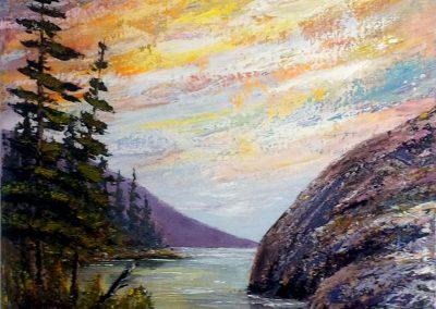 Wild Skies on Narrow Lake